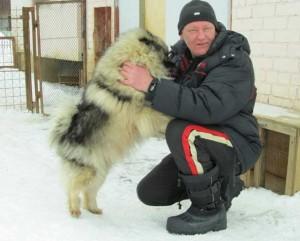 Андрей Шкляев и верный шпиц