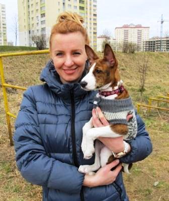 Моя ученица САРА с хозяйкой Анастасией, Минск, апрель 2014 г.