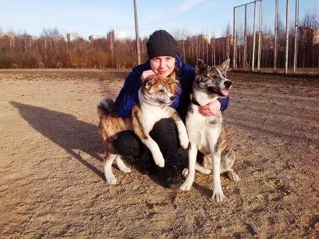 Любимая хозяйка – безусловный авторитет! (Анна с любимыми питомцами на занятиях, Минск)
